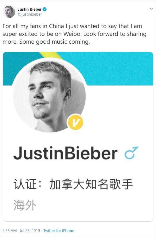 Justin Bieber khoe voi fan Trung Quoc ve dia nhac moi hinh anh 1