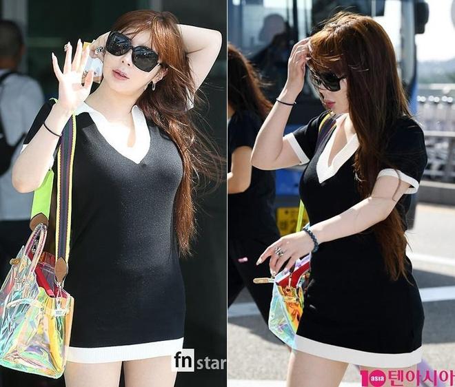 Park Bom (2NE1) tang can trong thay khi xuat hien o san bay hinh anh 2