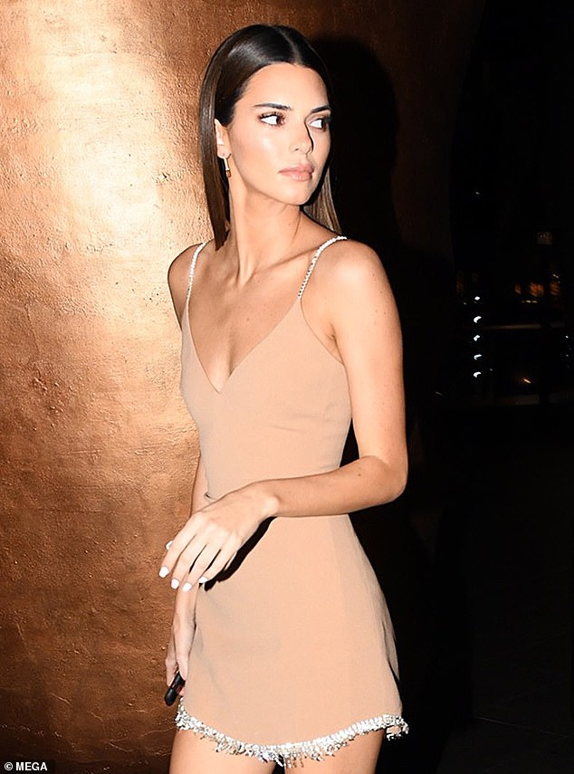 Kendall Jenner mac goi cam di an toi hinh anh 5