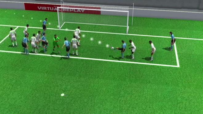 Pha dem long cua Suarez mo ty so cho Uruguay duoi goc nhin 3D hinh anh
