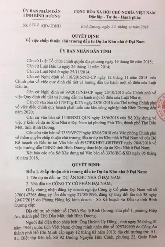 Binh Duong cho phep dai gia Dung 'lo voi' lam khu do thi 2.300 ty dong hinh anh 1
