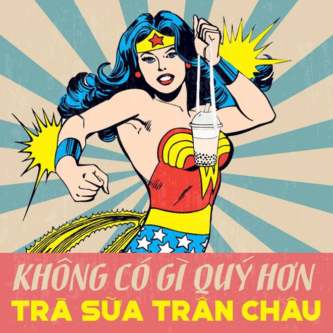 Loat anh che Wonder Woman thich uong tra sua, hay 'tha thinh' hinh anh 2
