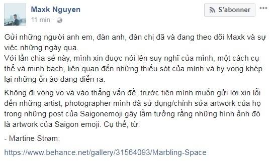 Maxk Nguyen cong khai nhan sai va xin phep xoa anh 'dao y tuong' hinh anh 1