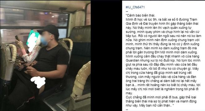 Nu sinh gap bien thai 'khoe hang' tren xe bus, bi danh chay mau dau hinh anh 1