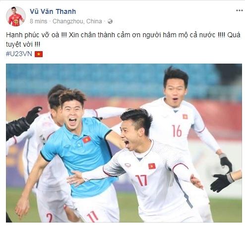 Van Thanh vo oa sau chien thang, nhan loi chuc mung tu nguoi ham mo hinh anh 1