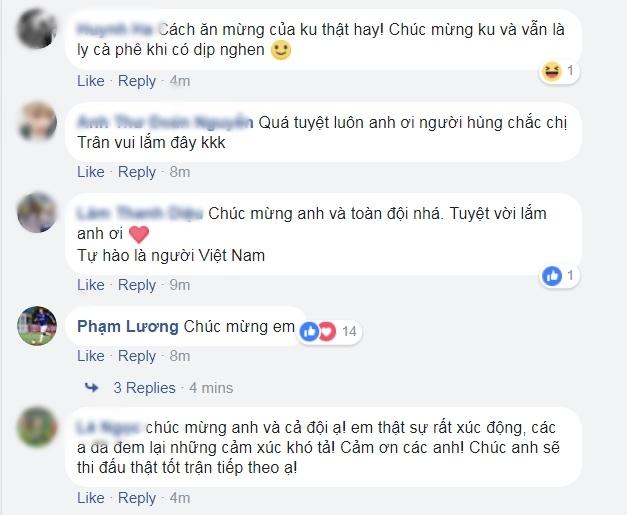 Van Thanh vo oa sau chien thang, nhan loi chuc mung tu nguoi ham mo hinh anh 3