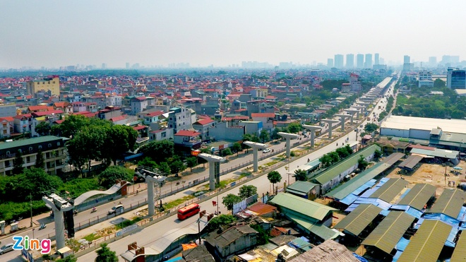 Nhieu goi thau tuyen metro Nhon - ga Ha Noi moi hoan thanh 10% hinh anh 1