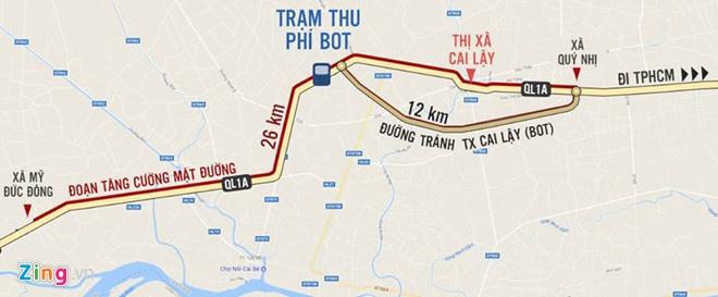 Bo Giao thong khong co tien de di doi BOT Cai Lay hinh anh 2
