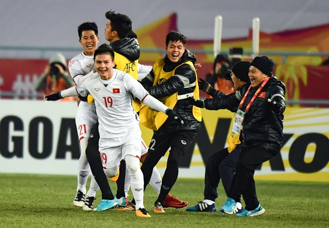 Thu tuong tang bang khen cho cac tuyen thu U23 Viet Nam hinh anh