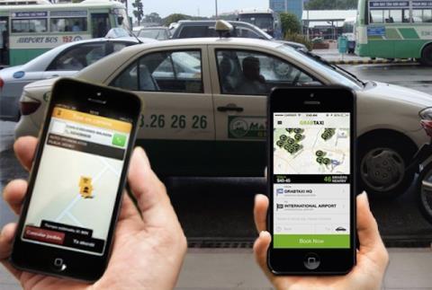 Taxi Ha Noi keu goi 77 hang hop luc 'dau' voi Grab hinh anh