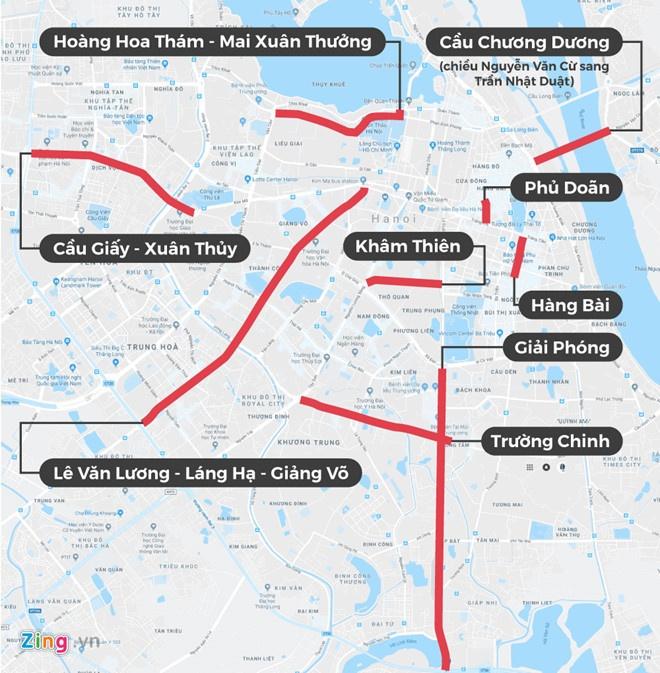 Ha Noi khong go bien cam taxi o 11 tuyen pho hinh anh 2
