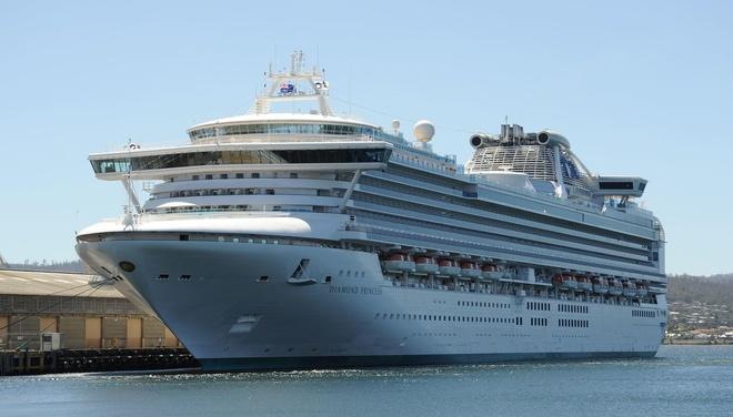 Du thuyền Diamond Princess - một trong 17 chiếc thuộc quyền quản lý củaPrincess Cruises. Ảnh: Wikipedia.