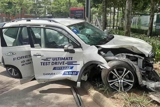 Subaru Forester dam xe anh 1