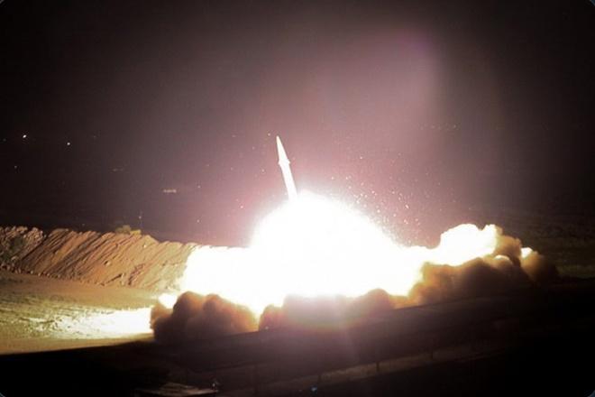 Image result for iran phóng tên lửa trả đũa