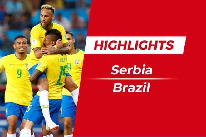 Highlights Serbia 0-2 Brazil: Paulinho cung Thiago Silva toa sang hinh anh
