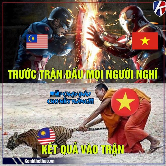 Anh che dan mang bat binh voi trong tai bat tran Viet Nam - Malaysia hinh anh 2
