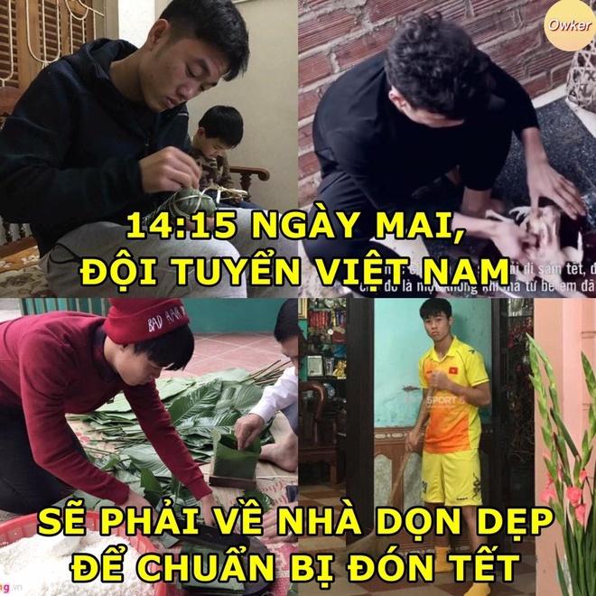 Anh che thay Park va tuyen Viet Nam cam dao, banh chung ve que an Tet hinh anh 7