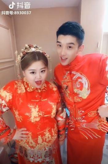 Cap 'dua lech' nang beo - chang gay noi tieng Trung Quoc da ket hon hinh anh 1