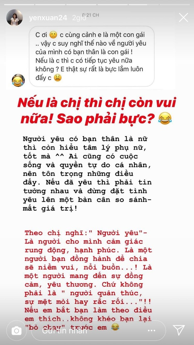 Ban gai Lam Tay thay 'vui' neu nguoi yeu co ban than la con gai hinh anh 1