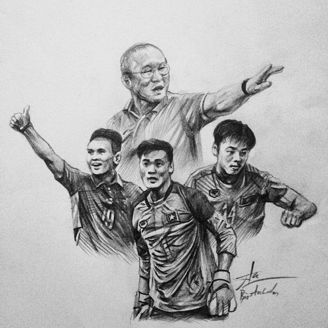 ve chan dung Thanh Chung Hoang Duc anh 5