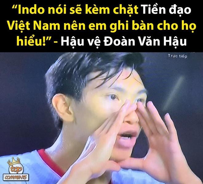 Anh che Van Hau toa sang trong tran thang U22 Indonesia hinh anh 4