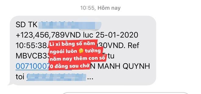 Vo Bui Tien Dung, con gai Minh Nhua khoe li xi tram trieu dip Tet hinh anh 4 21_1_1_.jpg