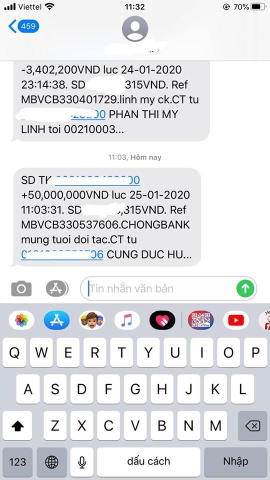 Vo Bui Tien Dung, con gai Minh Nhua khoe li xi tram trieu dip Tet hinh anh 3 82906735_2549862561957093_2550474356299923456_o.jpg