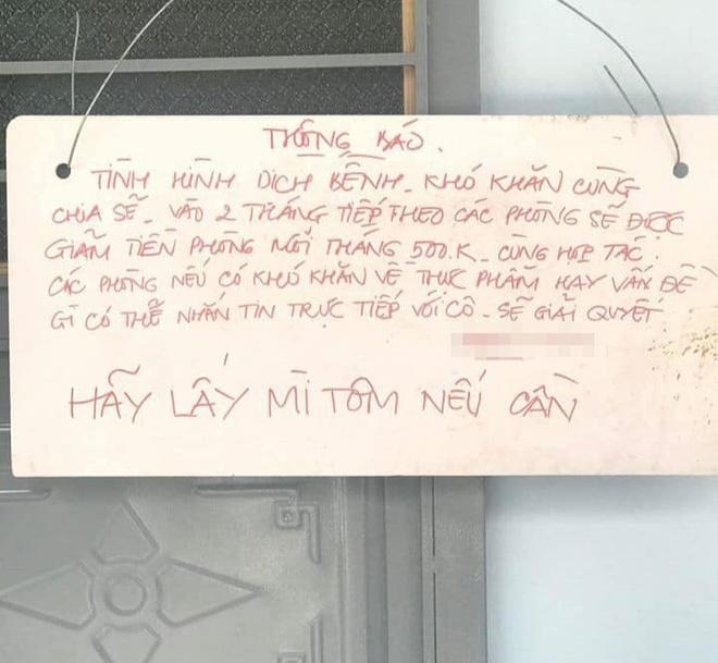 Chu nha bot tien thue, nhan khach: 'Hay lay mi tom neu can' hinh anh 1 90349256_2970124953043940_8230827999809765376_n_1.jpg