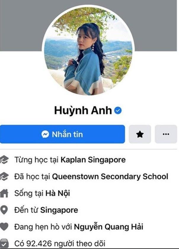 Huynh Anh ban gai Quang Hai anh 1