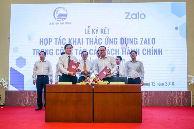 Binh Duong ung dung Zalo vao cai cach hanh chinh hinh anh 1