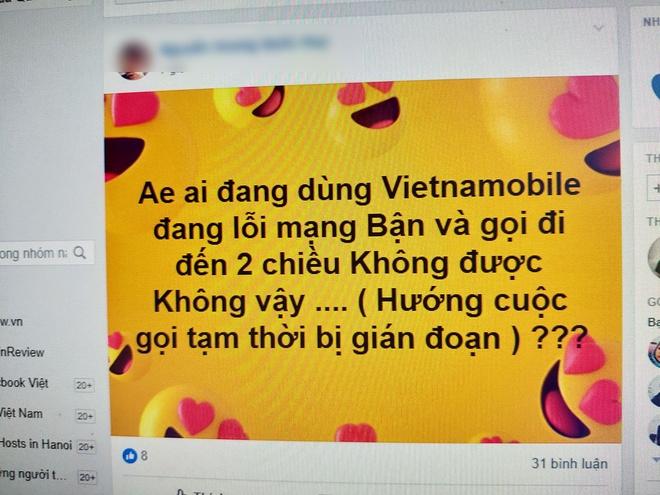 Mang Vietnamobile te liet trong nhieu gio hinh anh 1