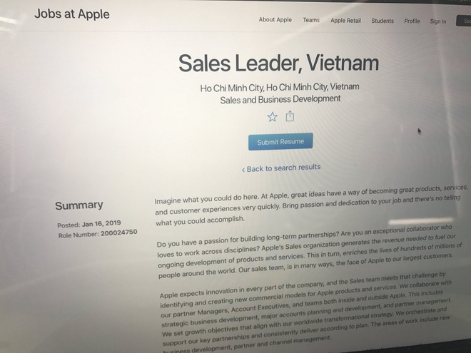 Apple tuyen Giam doc kinh doanh tai Viet Nam hinh anh