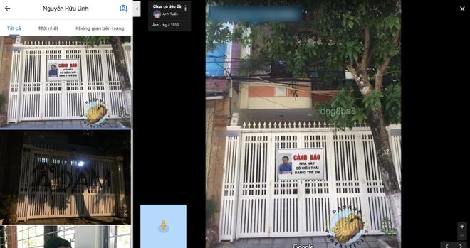 """Khi tìm trên Google Maps với từ khóa """"Nguyễn Hữu Linh"""", nhiều ảnh chế, ảnh chụp nhà ông Linh hiện lên. Ảnh chụp màn hình."""