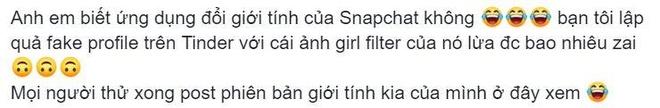 Doi gioi tinh bang Snapchat, chang trai thanh 'hot girl' tren Tinder hinh anh 3