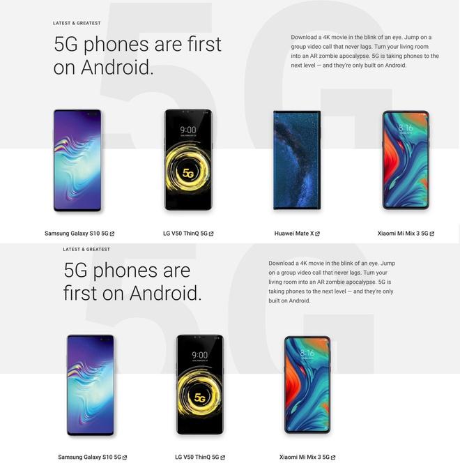 Google xoa het smartphone Huawei khoi trang web gioi thieu Android hinh anh 1