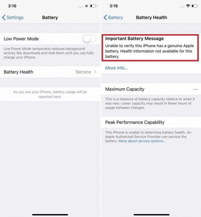 Vi sao khach hang thay pin iPhone chinh hang van bi bao loi? hinh anh 1
