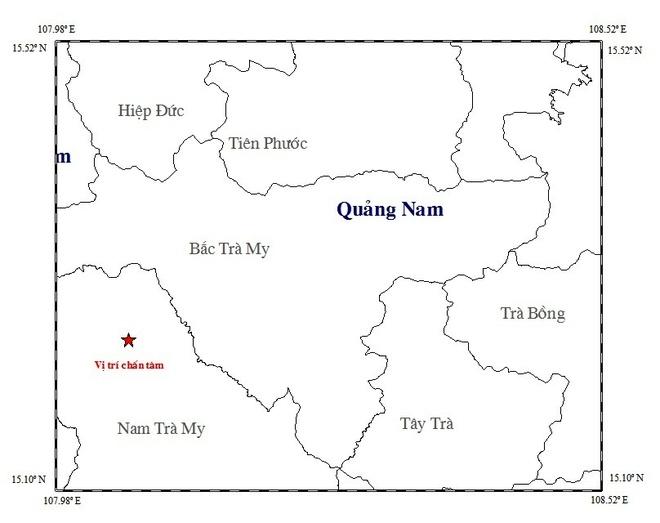 Dong dat 3,9 do richter o Quang Nam hinh anh