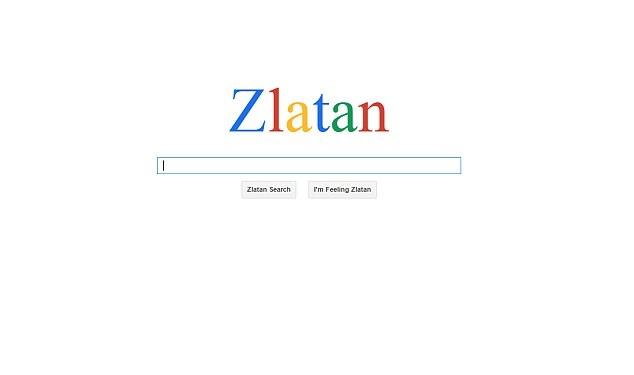 Trang tim kiem giong Google danh cho Ibrahimovic hinh anh