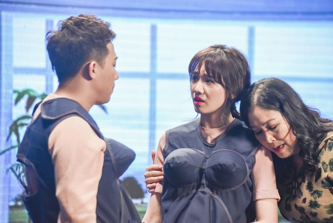 Hari Won khoc va goi Tran Thanh la 'may' tren game show hinh anh