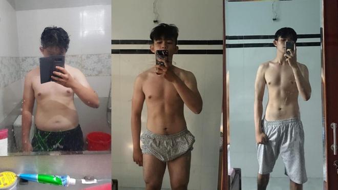 Chàng trai giảm 20 kg, sở hữu cơ bụng 6 múi sau khi bị crush chê