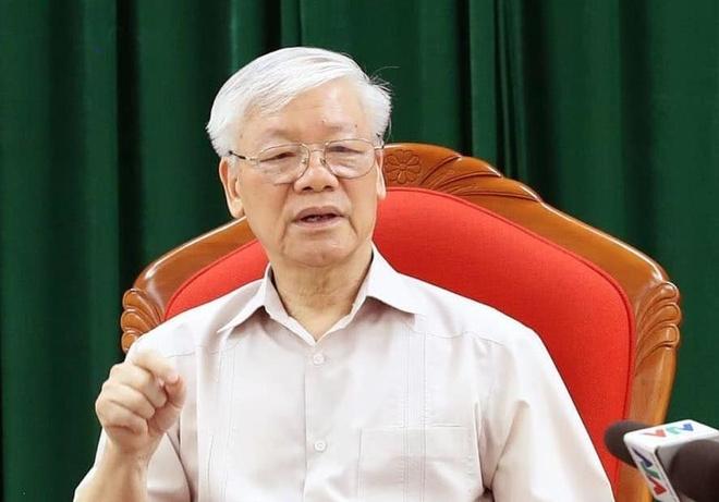 Tong bi thu Nguyen Phu Trong chu tri hop lanh dao chu chot hinh anh 2