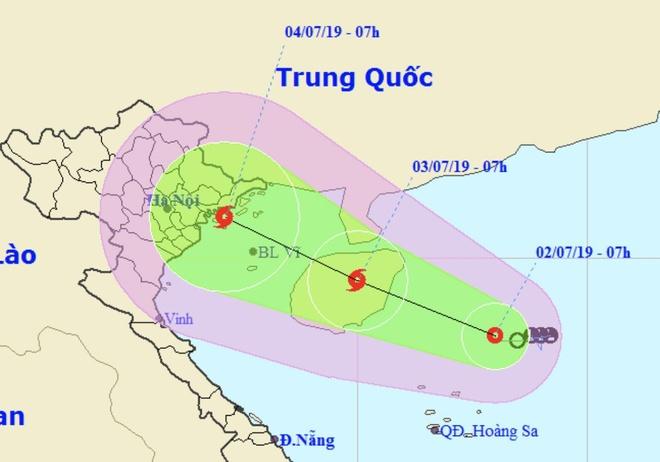 Tam bao co the o vung bien tu Quang Ninh den Nam Dinh trong 2 ngay toi hinh anh 1
