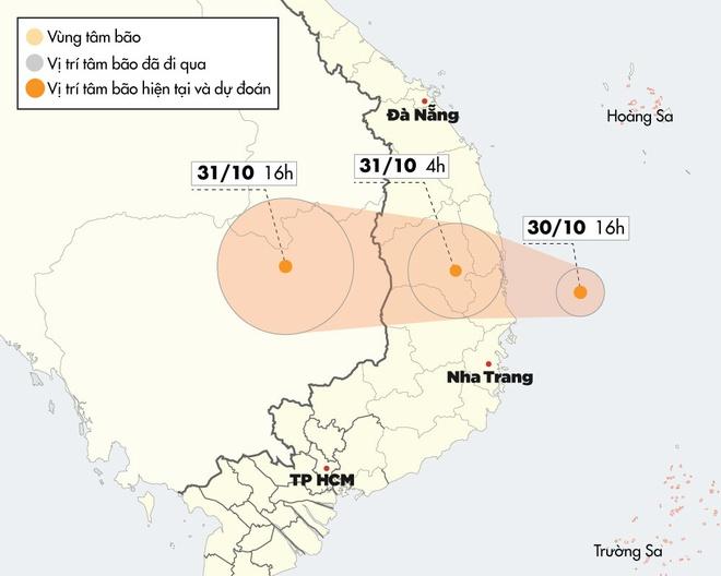 Bão số 5 cách đất liền hơn 100 km, giật cấp 12