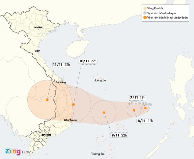 Bão số 6 có thể đổ bộ Quảng Ngãi – Khánh Hòa 2 ngày tới