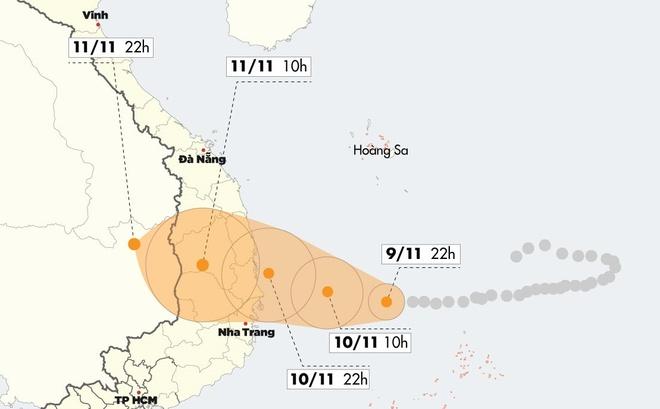 Bão số 6 mạnh cấp 11 áp sát Quảng Ngãi – Khánh Hòa