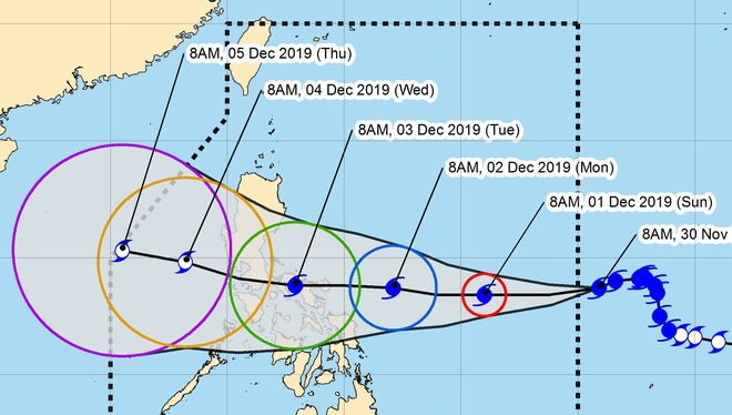 Sau khi đổ bộ Philippines, bão Kammuri có thể vào Biển Đông