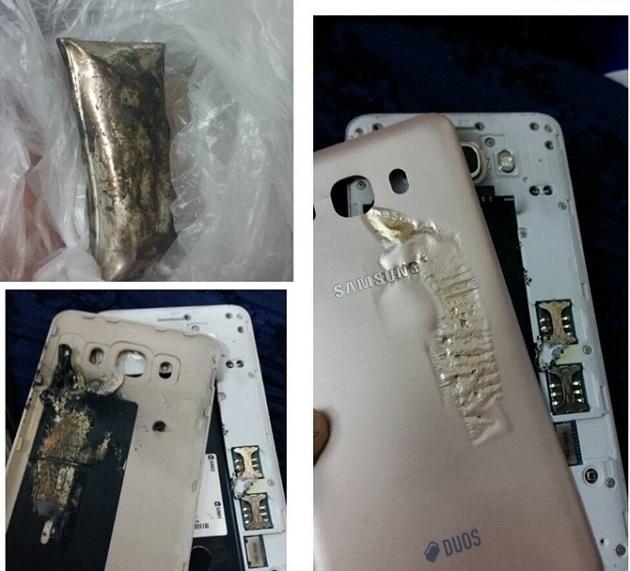 Samsung Galaxy J7 phat hoa tren may bay hinh anh 1