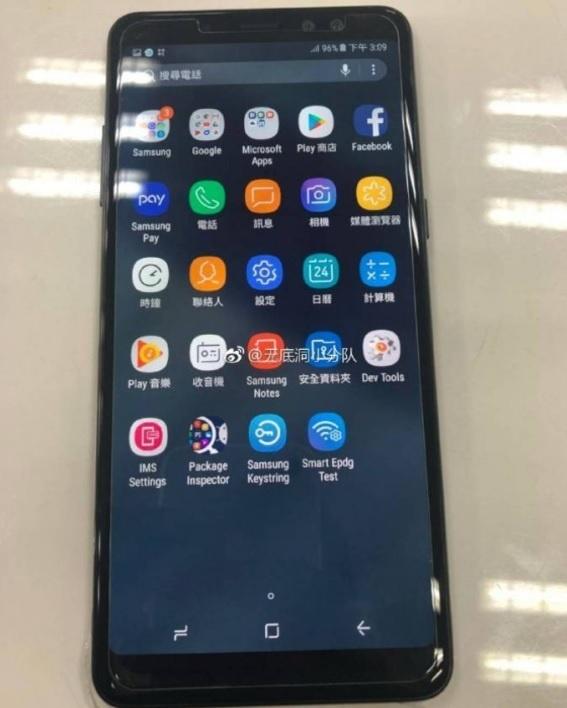 Galaxy A 2018 co the dung man hinh vo cuc nhu Note 8 hinh anh 1