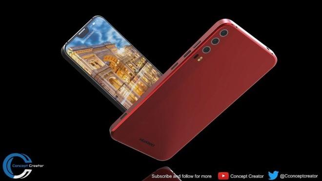 Thiet ke Huawei P11 voi 'tai tho' phong cach iPhone X hinh anh 2