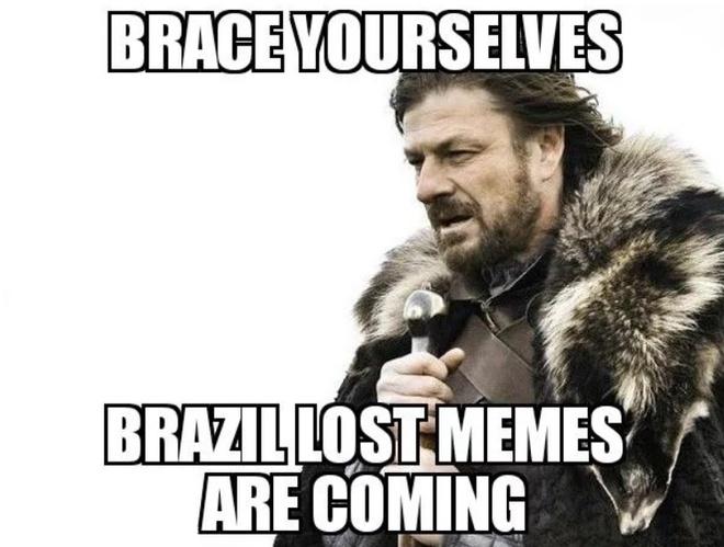 Bi loai, Brazil va Neymar thanh de tai che anh tren mang xa hoi hinh anh 1